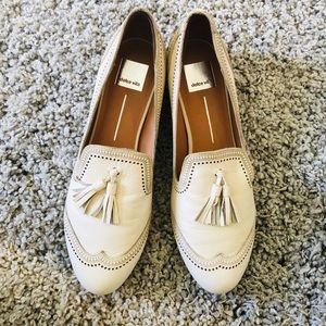 Dolce Vita Cream Leather Loafers
